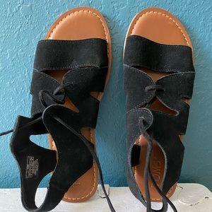 Toms Black Gladiator Sandals